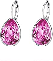 Xuping Sparkle Jewelry Halloween Hot Beauty Elegant Water Drop Crystals from Swarovski Luxury Decorate Hoop Earrings...