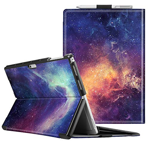 Fintie Case for Microsoft Surface Pro 7 Compatible with Surface Pro 6 / Surface Pro 5 / Surface Pro 4 12.3 Inch Tablet, Hard Shell Slim Portfolio Cover Work with Type Cover Keyboard (Galaxy) (4 Tab For 7 Inch Keyboard)