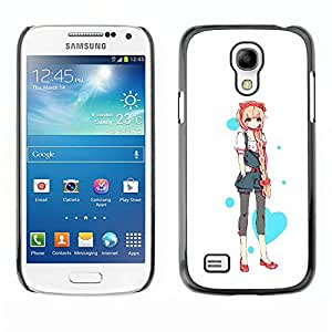A-type Colorful Printed Hard Protective Back Case Cover Shell Skin for SAMSUNG Galaxy S4 mini VERSION! / i9190 / i9192 ( Love Heart Princess Anime Japanese )