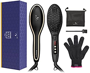 USpicy Hair Straightening Brush with Free Heat Resistant Glove