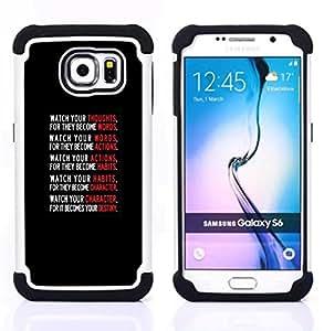 For Samsung Galaxy S6 G9200 - text black red white motivational poster Dual Layer caso de Shell HUELGA Impacto pata de cabra con im????genes gr????ficas Steam - Funny Shop -