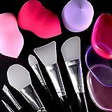 Makeup Set [12 PACK] - Premium Silicone Brushes (6), and Gel Sponges (3) / Powder Foam Teardrops (3)