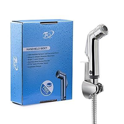 FQ Handheld Bidet Sprayer, 2 Water Flow Design Diaper Sprayer Shattaf With 60inch Stainless Steel Hose And Bracket, Brass T Adaptor