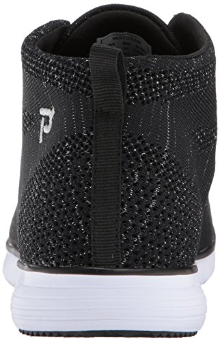 Propét Womens Travelfit Hi Walking Scarpa Nera / Metallizzata