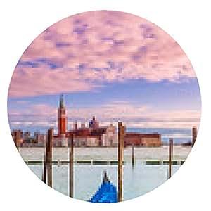 alfombrilla de ratón Góndola en el Gran Canal de Venecia, Italia. - ronda - 20cm