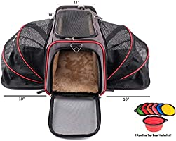 1fb4720f4f88 Premium Airline Approved Expandable Pet Carrier by Pet Peppy- Two Side  Expansion