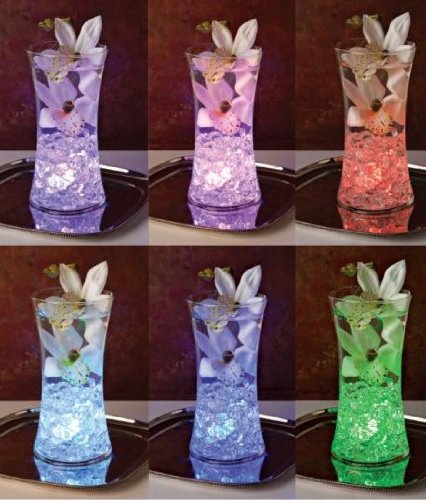 Submersible Water Lights - Color Changing LED Light with Clear Acrylic Gems