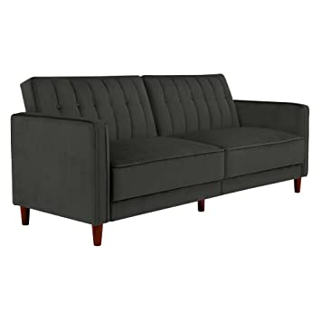 Superieur DHP Pin Velvet Convertible Sleeper Sofa In Gray