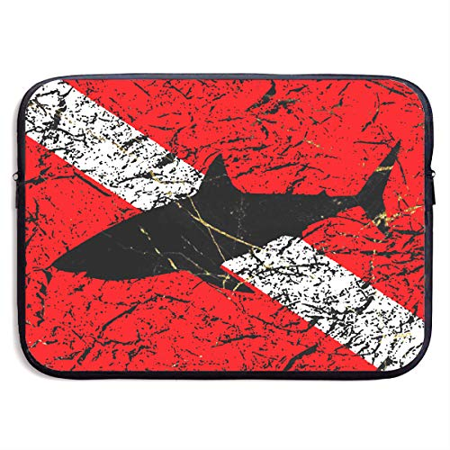 Scuba Diver Down Flag Notebook Bags Zipper Laptop Bag 13 Inch Laptop Sleeve Case Bag Computer Bag ()