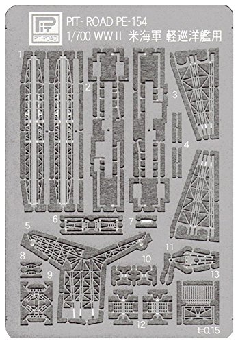 - Pit road 1/700 Etching Parts for The US Navy Light Cruiser PE154