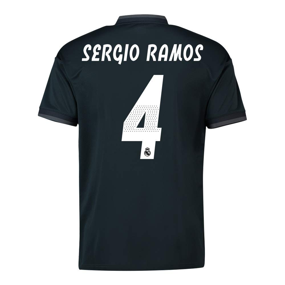2018-19 Real Madrid Away Football Soccer T-Shirt Trikot (Sergio Ramos 4)