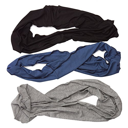 HBY Mens Womens Elastic Bandana Headband Long Hair Dreads Head wrap -