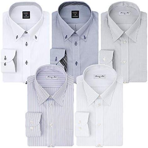 (アトリエ 365) 長袖 ワイシャツ 5枚セット イージーケア 形態安定 Yシャツ/at103-ats