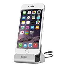 Belkin F8J045BT Charge and Sync Dock with Lightning Cable Connector for iPhone 5/5S/5c and iPod Touch 5th Generation (Silver)