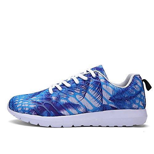 No.66 Town Couple Mens Womens Casual Walking Running Shoes Fashion Sneaker Blue X0iyph