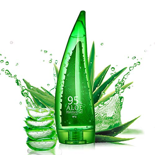 PF79 Aloe Gel Pure Nature Aloe Smoothing Gel For Face After Sun Repair Facial Skin Care - Moisturizer For Face and Skin - Sunburn Care Body Lotion Alcohol, 8.8 Ounce/266 Milliliter