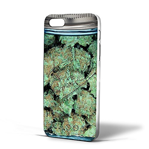 Clear Weed Mason Jar for Iphone Case (iPhone 6 plus/6S plus white)
