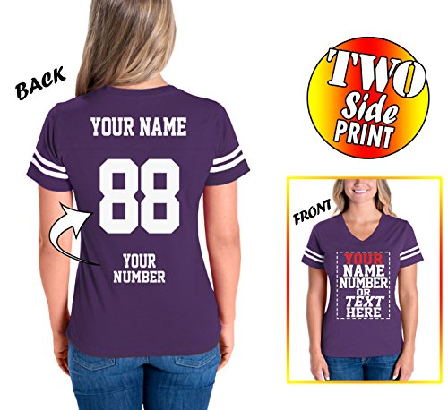 Custom Cotton Jerseys for Women - Personalized Team Uniforms for Casual Outfit ()