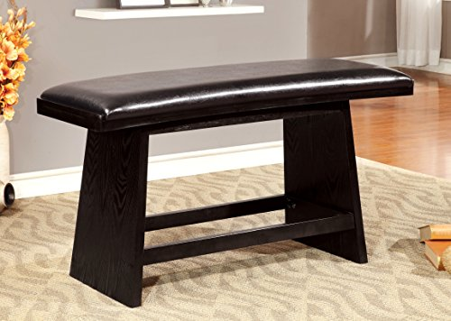 Furniture of America Morley Pub Dining Bench, Black Review