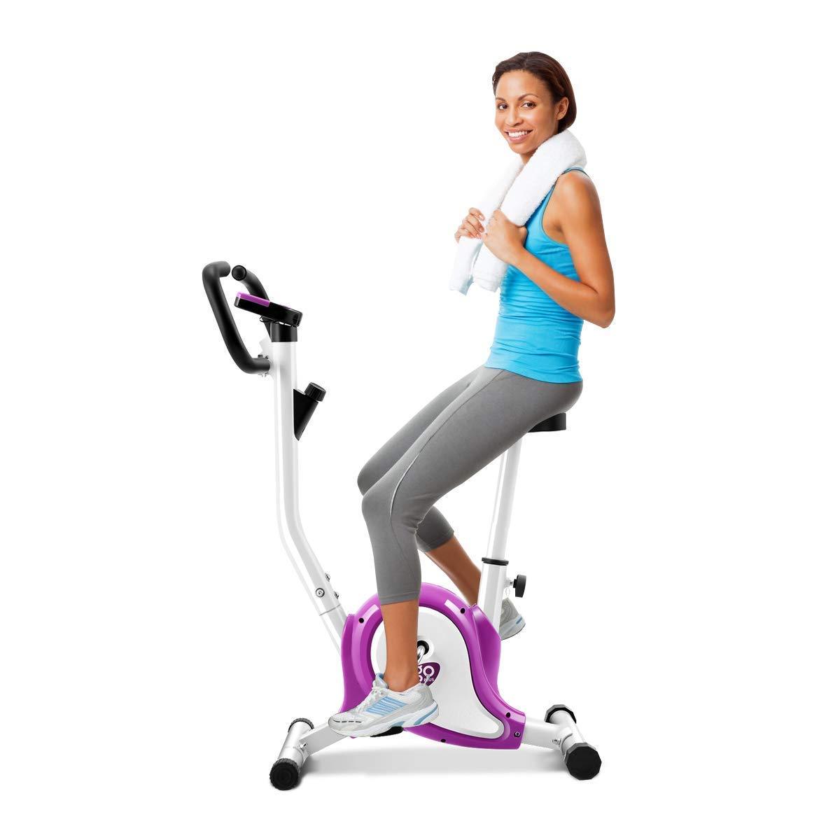 COSTWAY Cyclette da Allenamento Bicicletta Spinning Fitness Indoor, Display LCD, Varie modalità Resistenza e Altezza Sellino Regolabile
