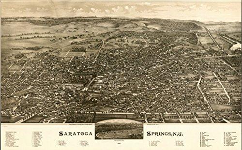 Map: 1888 Saratoga Springs, N.Y. 1888. Saratoga Race Track|New York|Saratoga Springs|Saratoga Springs (Saratoga Race)
