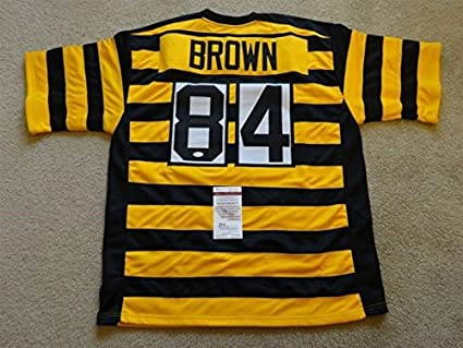 new concept 28f81 d5bcb ANTONIO BROWN SIGNED AUTO PITTSBURGH STEELERS THROWBACK ...