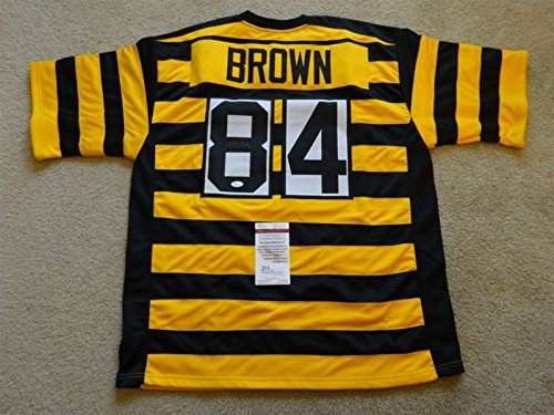 ANTONIO BROWN SIGNED AUTO PITTSBURGH STEELERS THROWBACK JERSEY JSA AUTOGRAPHED