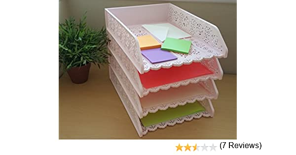 Amazoncom 4 Pack Stackable Letter Tray Desk Office File