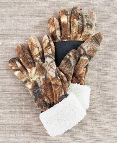 Brown Camouflage Glove - Women's Realtree® Cold Weather Accessories (Fuzzy Fleece Gloves Brown Camo M/L)