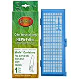 Miele S300, S400, S500 and S600 Models Canister Vacuum Cleaner Cartridge Hepa Filter # 250