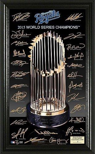 Kansas City Royals 2015 World Series Champions Trophy Signature - Licensed MLB Baseball Gift