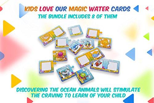 Visseto Aqua Doodle Mats + 8 Learning Aqua Doodle Cards   Kids Toys ...