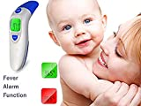 Digital Infrared Forehead Thermometer, Baby Forehead Thermometer with Ear Function More Accurate Medical Fever Body Basal Thermometers Suitable for Infant Child Adult - FDA and CE Approved (Blue)