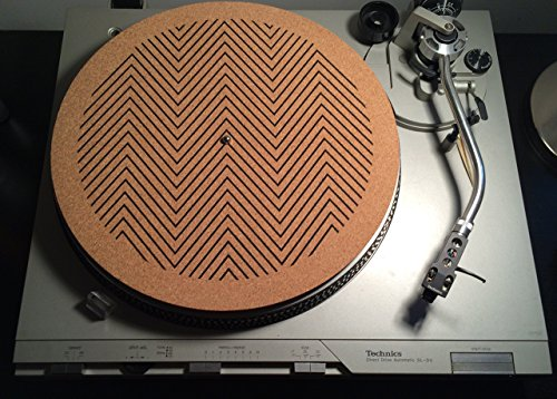 Handcrafted Natural Cork Turntable Mats by The 50/50 Company