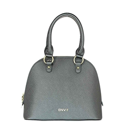 House of Envy - Bolso estilo bolera para mujer gris gris