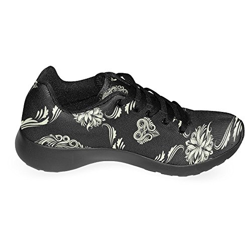 InterestPrint Womens Jogging Running Sneaker Lightweight Go Easy Walking Casual Comfort Running Shoes Skull Multi 1 6h2J08