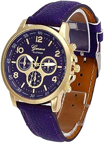 Reloj de pulsera clásico para mujer, analógico, de cuarzo, diseño ultrafino, minimalista, correa de piel, esfera de Leedy