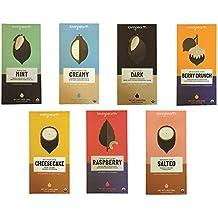 Loving Earth, USDA Organic Chocolate bar, 7 Flavor Variety Pack (Salted, Mint, Creamy, Dark, Berry Crunch, Cheesecake & Raspberry)