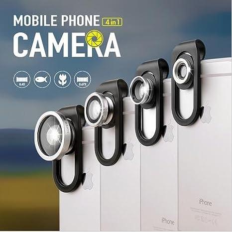 como Direct Ltd ™ Universal 4 en 1 Clip Smartphone Lente de la cámara: Amazon.es: Electrónica