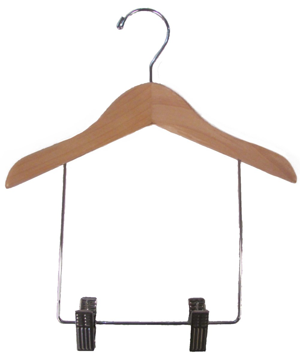Children's Wooden Display hanger with Matte Natural Finish by The Great American Hanger Company