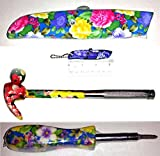 Pretty Floral Flower 4 piece Tool Set for Ladies - a 5-in-1 Hammer, a 4-in-1 Screwdriver, a Standard Utility Knife and - 1 Mini Keychain Box Cutter {jg}