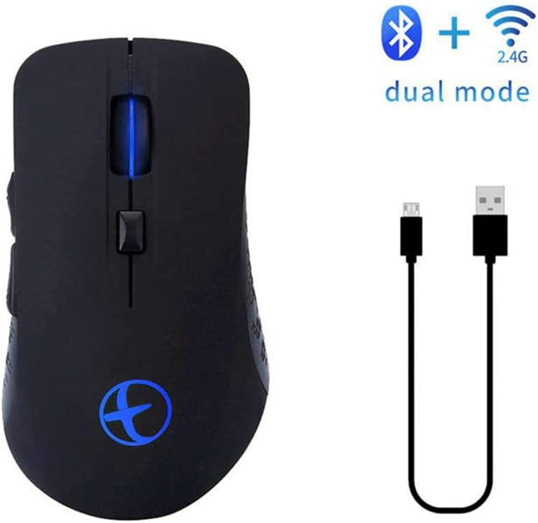 Long-Lasting Battery Life Bluetooth Mouse with Mute Button for Laptop PC Notebook Computer Games and Work Gift Office Mouse
