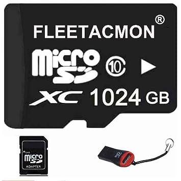 FLEETACMON - Tarjeta de Memoria Micro SDHC SD TF de 1024 GB ...