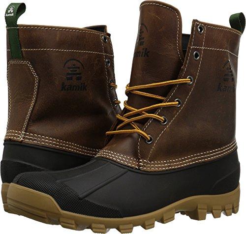 Men 1 Kamik Toe Round Hunting Yukon Brown Brown 6 Leather Dark Boot xww41S