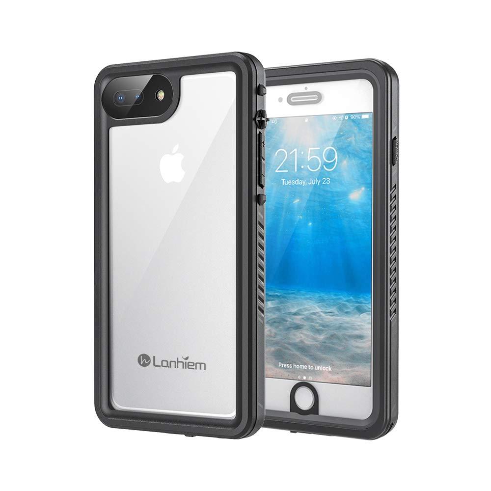 Lanhiem Funda Impermeable iPhone 7 Plus iPhone 8 Plus, Carcasa Sumergible Resistente Al Agua IP68 [Protección de 360 Grados], Carcasa con Protector de ...