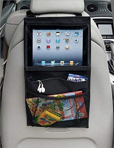 Car Organiser, Car Back Seat Organiser,Car Dinning Table Car Backseat Organizer Holder Car Seat Organiser Multi-Pocket Travel Storage With Touch Screen iPad Holder For Trips Travel and Car Tidy Kids MuStone