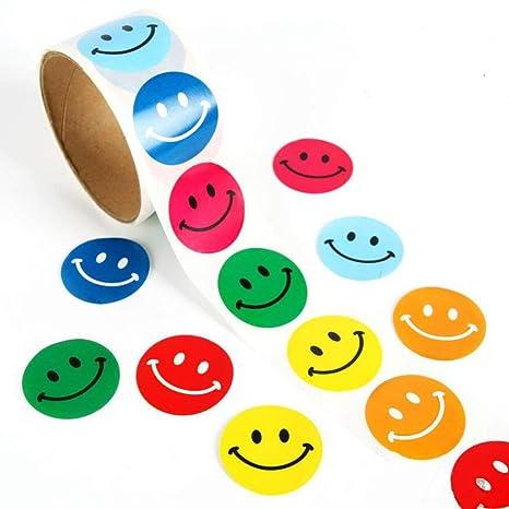 Lezed Bunt Smiley Aufkleber Rundschreiben Lächeln Aufkleber Lehrer und Kinder Gewidmet klebrige Aufkleber Extra Große Belohnu
