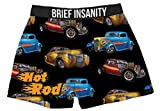 Brief Insanity Hot Rod Car Lovers Silky Boxer Shorts Gifts for Men Dad