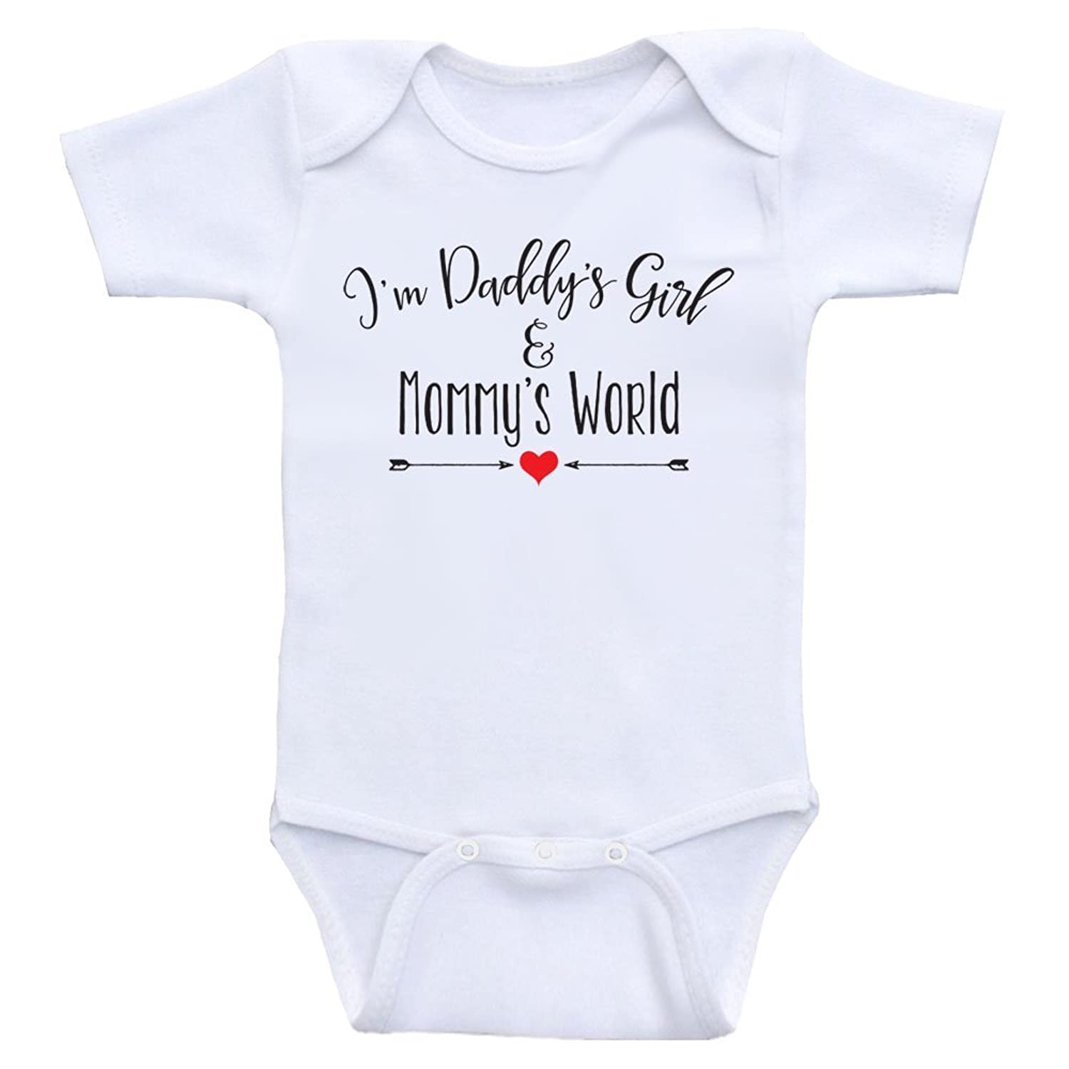 "Amazon Cute Baby Girl Clothes ""Daddy s Girl And Mommy s World"