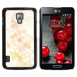 LECELL -- Funda protectora / Cubierta / Piel For LG Optimus L7 II P710 / L7X P714 -- Floral pattern --